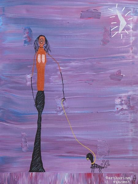 Triptyque 1 : La femme longue