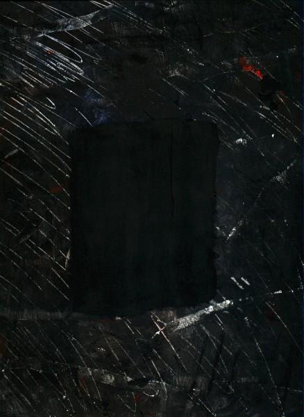 Le masque - carré noir sur fond noir
