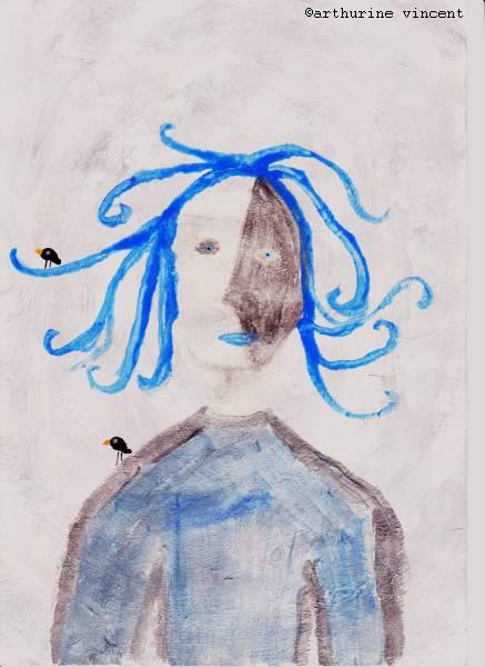 La fille aux cheveux bleus (non disponible)