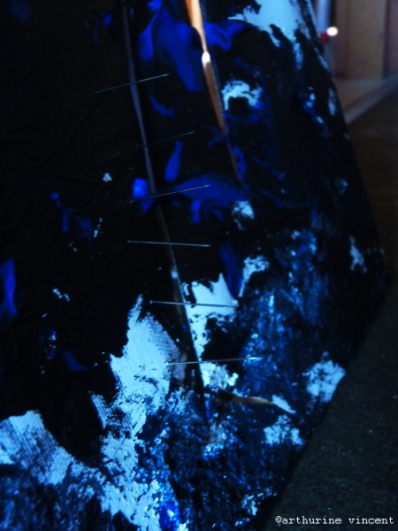 cauchemar en bleu et noir détail
