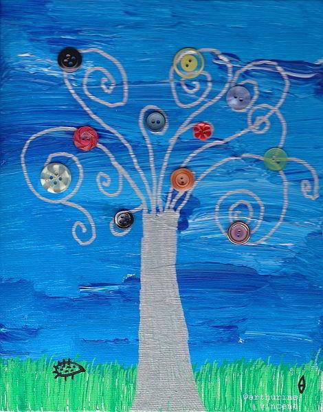 L'arbre en boutons