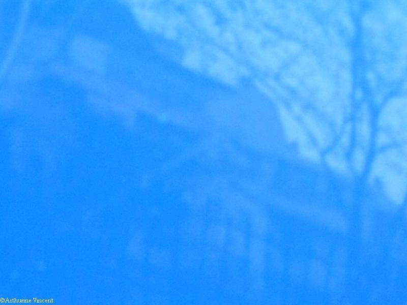 Reflet bleu