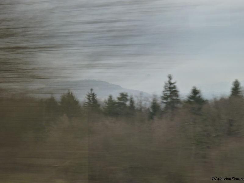 Vue d'un train...