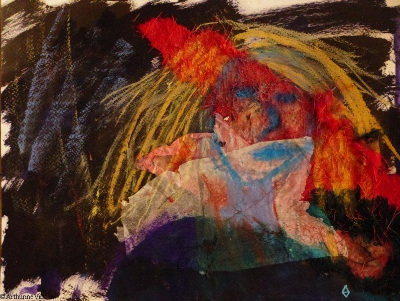 Cheveux jaunes et Ariane (vendu)
