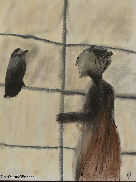 La vieille dame et le corbeau