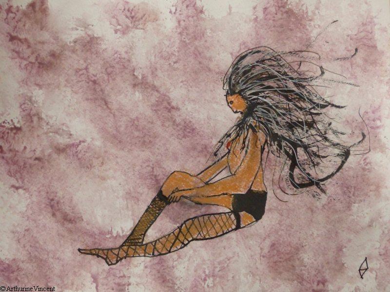 La fille aux bas résille