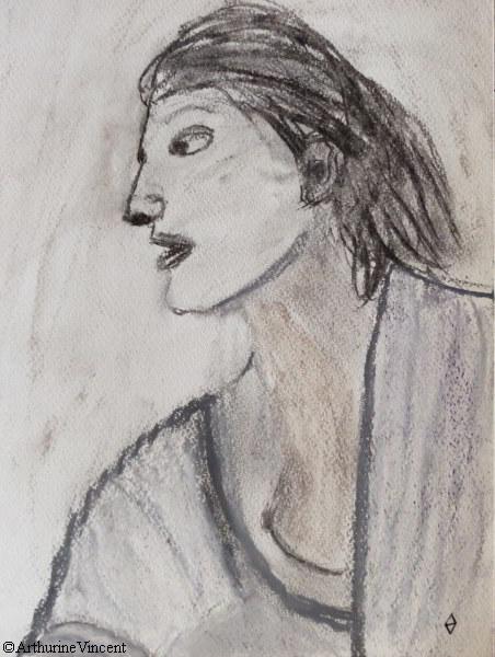 Autoportrait au peignoir (vendu)