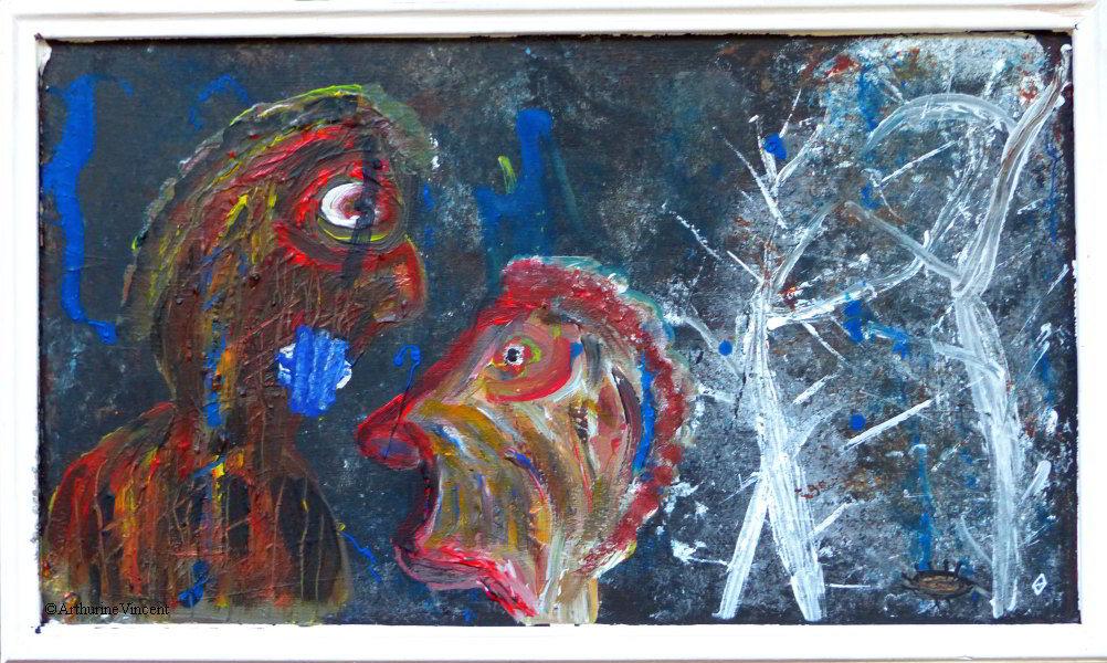 Les silences des hérissons au fond des bois (vendu)