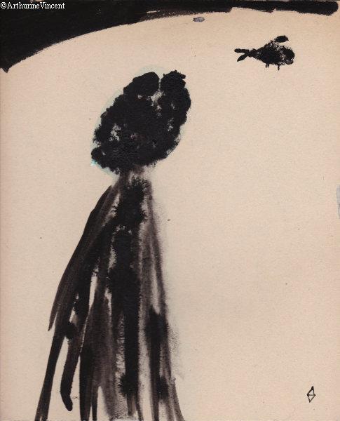 Autoportrait : sombre, flou, attendant le charognard