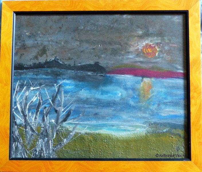 La vie est un pique-nique imaginaire où le soleil se couche près du lac de la Triouzoune