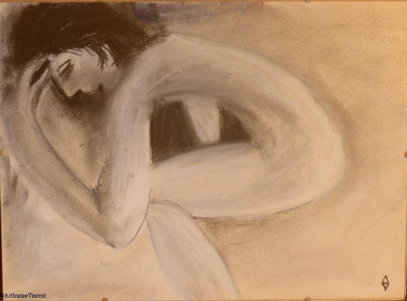 autoportrait apaisé (Vendu)