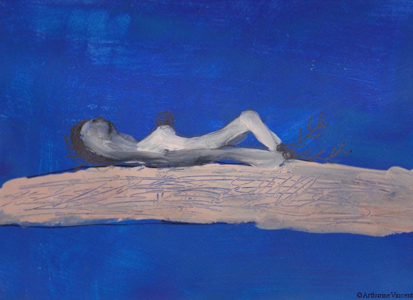 Femme allongée (non disponible)