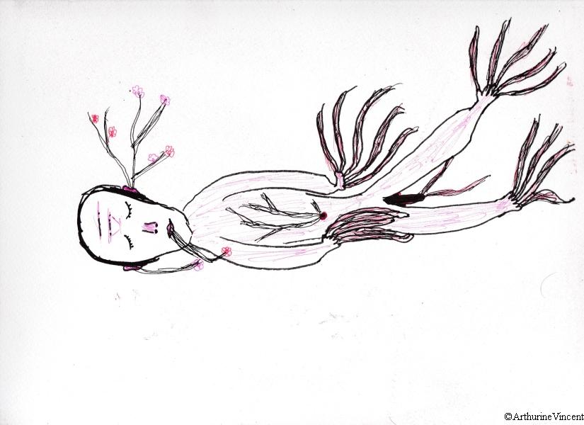 L'homme-arbre couché (Vendu)