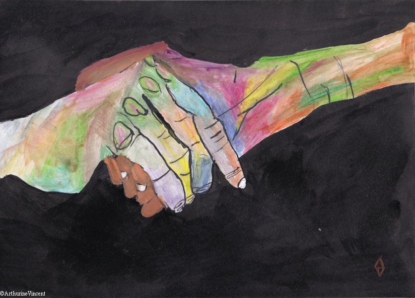La poignée de main (vendu)