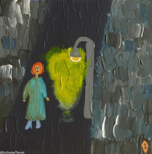 Femme en vert, la peau couleur de miel
