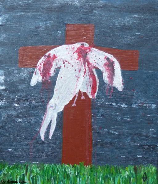 La mort du corbeau blanc (vendu)