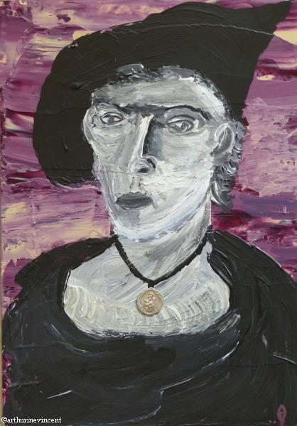 Portrait au médaillon