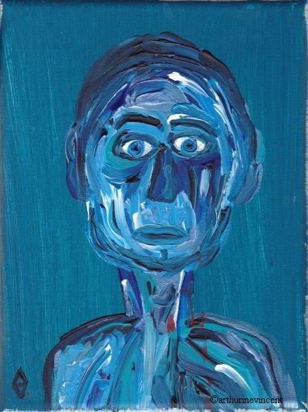 L'impassible bleu