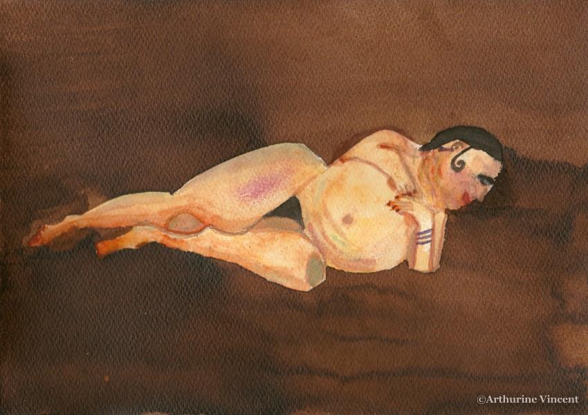 femme aquarelle 4 (non disponible)