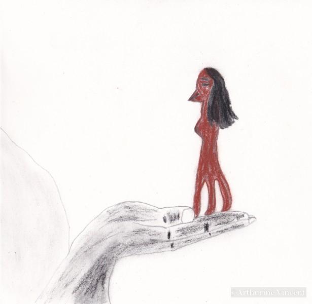 Main qui tient une Amabié