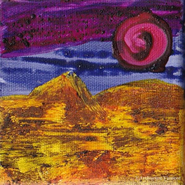 le désert (tempera à l'oeuf)