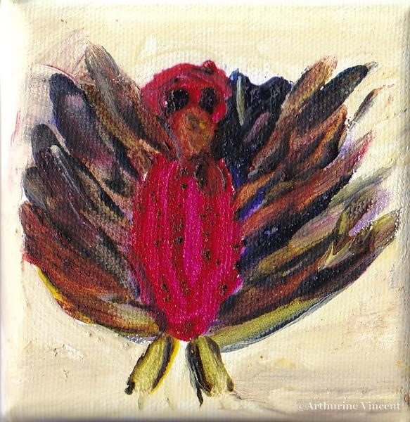 l'oiseau (tempera à l'oeuf)