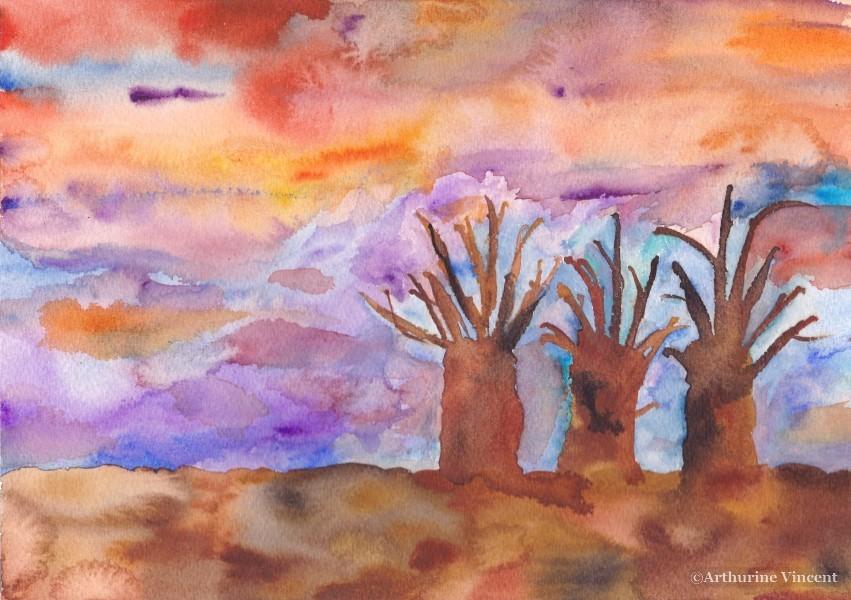 Trois arbres 4