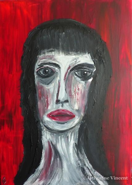 femme avec frange