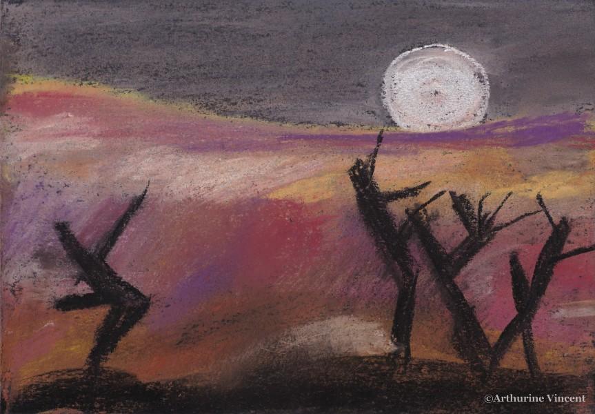 Arbres à la pleine lune